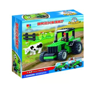 Fun Blocks Farm Tractor 3 in 1 Brick Set