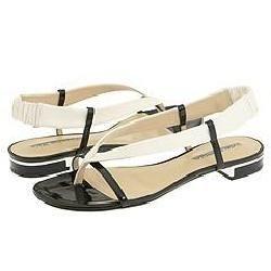 Via Spiga Nelly Dew/Black Nappa Softy Patent Sandals