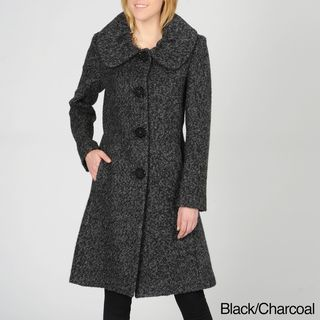Ivanka Trump Womens Wool Blend Boucle Coat
