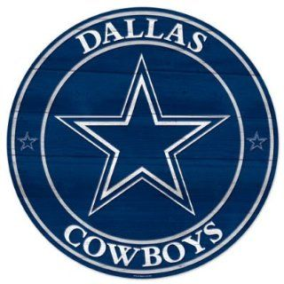 Dallas Cowboys Huge 19.75 inch Round Hardboard Wood Sign