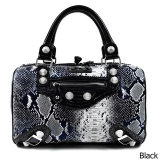 Nicole Lee Catava Python Lover Boston Bag