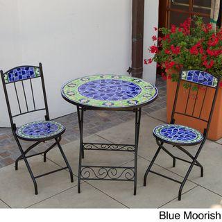 RST Outdoor Ceramic Tile Bistro 3 piece Set