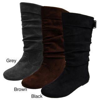 Glaze by Adi Womens Microsuede Slouchy MId calf Boots