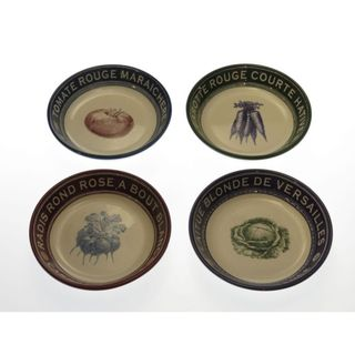 Certified International French Market Assorted Soup/ Pasta Bowls