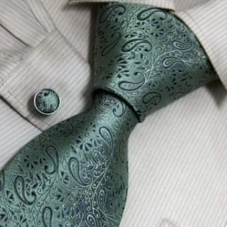 Green Pattern Men in Ties Turquoise Stripes Christmas