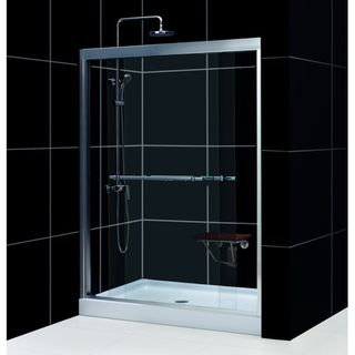 Duet Shower Door with  32x60 inch Base Tub To Shower Kit