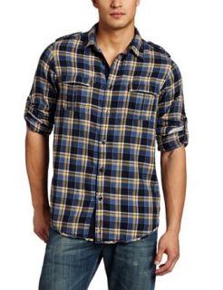 Ben Sherman Mens Long Sleeve Shirt,Prize Blue,X Small