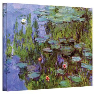 Claude Monet Sea Roses Gallery Wrapped Canvas