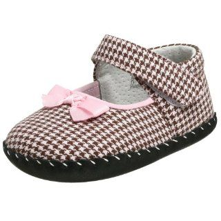 Shoe (Infant),Pink/Brown Houndstooth,Extra Small (0 6 Months) Shoes