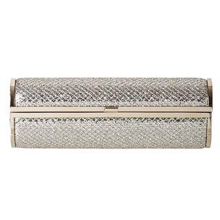 Jimmy Choo Cosma Glitter Fabric Cylinder Clutch