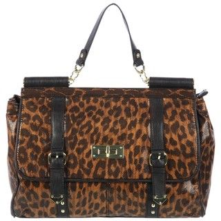 Steve Madden Large Animal Print Satchel Handbag