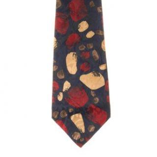 Regency Mens Patterned Polyester Neck Tie Navy One Size