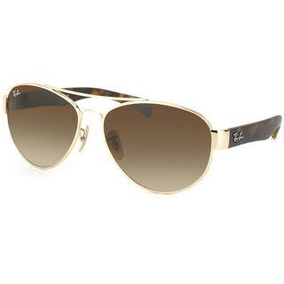 Ray Ban Unisex RB 3491 Aviator 001/13 Gold & Matte Tortoise Sunglasses