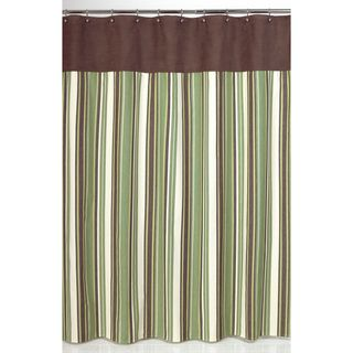 Green and Brown Ethan Shower Curtain
