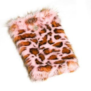 Women Pink Panther Faux Shaggy Fur Accessory Boot Wraps Huggrz Shoes