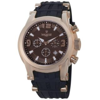 Lancaster Italy Mens Bongo Brown Dial Watch