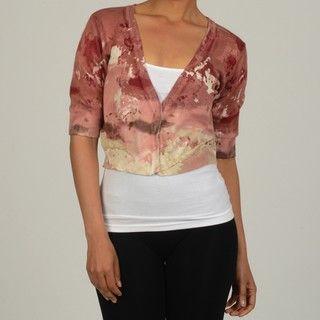 Vivienne Vivienne Tam Womens Printed Cardigan Sweater