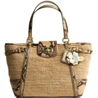 Coach Limited Edition Straw Natalie Shopper Bag Purse Tote