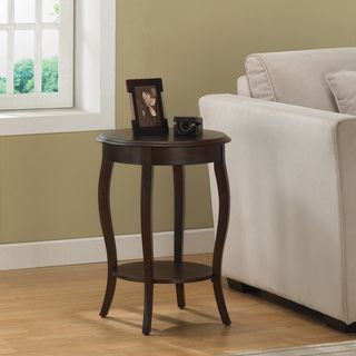 Walnut 18 inch Round Accent Table