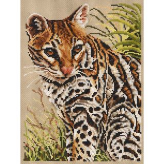 Ocelot Counted Cross Stitch Kit 8X10 3/4 14 Count Today $17.99