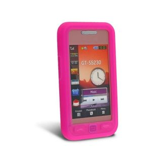 Hot Pink Silicone Case for Samsung S5230C Star