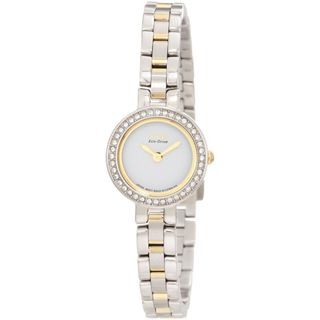 Citizen Womens Two tone Eco Drive Silhouette Crystal Watch