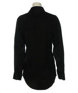 Prada Womens Black Silk Dress Shirt   Size 40