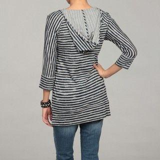Calvin Klein Performance Womens Navy/ Grey Striped Top