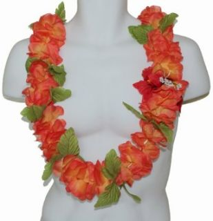 The Orange Color Hawaii Artificial Flower Full Leis