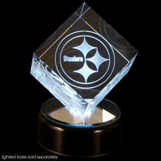 Pittsburgh Steelers Prismatic Crystal Logo Cube with Base