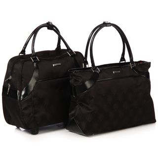 Isabella Fiore Signature Two piece Carry On Luggage Tote Set