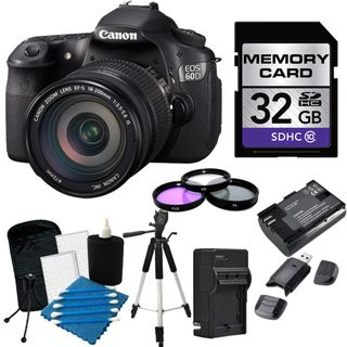 Canon EOS 60D Pro Digital SLR Camera with 18 200mm IS EF S Lens Bundle