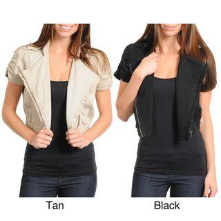 Stanzino Womens Short Sleeve Bolero Jacket