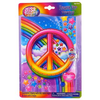 Lisa Frank Light Up Peace Sign Diary