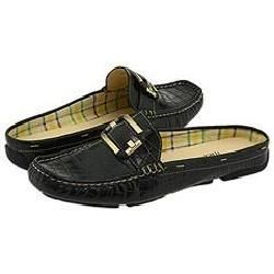 AK Anne Klein Abbey Black Crocco Loafers