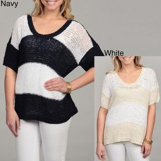Calvin Klein Jeans Womens Stripe Sweater Top FINAL SALE