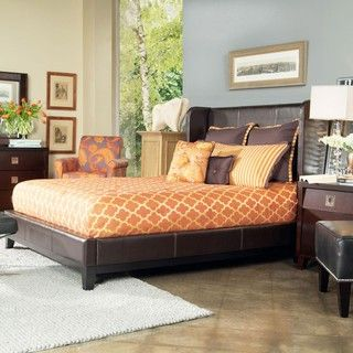 angeloHOME Marlowe Full size Bonded Leather Shelter Bed