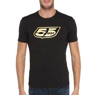 55DSL By Diesel T Shirt Gold Homme Noir et doré   Achat / Vente T