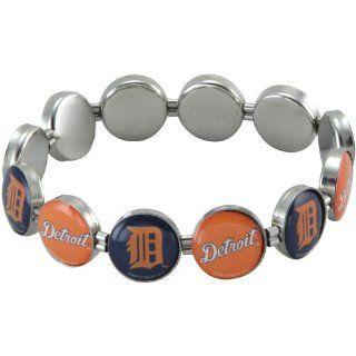 MLB Detroit Tigers Team Logo Charm Beaded Bracelet Sports