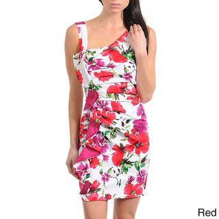 Stanzino Womens Floral Gathered Ruffle Detail Dress