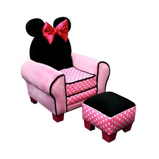 Disney Minnie Mouse Chair and Ottoman