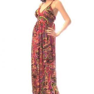 Print Maxi Dress (Small) Clothing