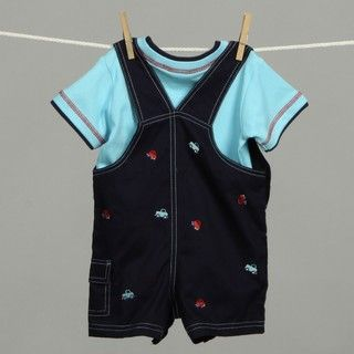 Good Lad Infant Boys Embroidered Shortall Set