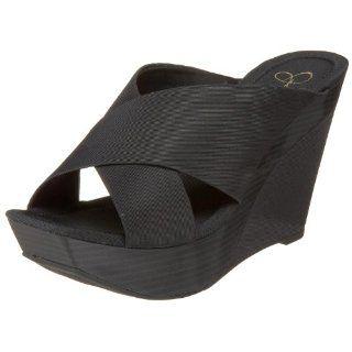 Jessica Simpson Womens Erie Wedge,Black,5 M US Shoes