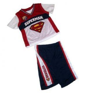 Superman Boys Mesh Jersey Shirt and Short Set, 7 Clothing