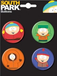 South Park 4 Piece Button Set Clothing