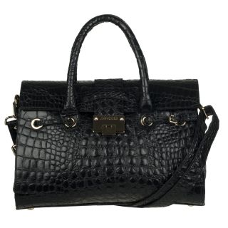 Jimmy Choo Rosalie Black Textured Leather Shopper Bag