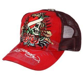 Ed Hardy Mens True Heart Collage Hat