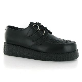 Underground Creepers Camaro Black Leather Mens Shoes Shoes