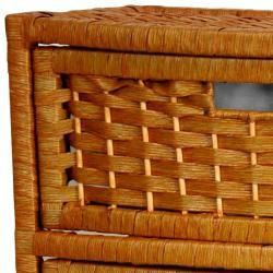 Natural Fiber 37 inch Chest of Drawers (China)